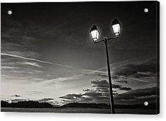 Two Lights At The Sunset Acrylic Print by Philippe Taka