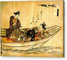Two Lovers In Boat 1742 Acrylic Print