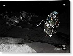 Two Manned Maneuvering Vehicles Explore Acrylic Print by Walter Myers