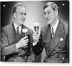 Two Men With Alcoholic Beverages Acrylic Print by George Marks