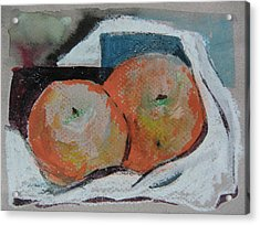 Two Oranges Acrylic Print by Mindy Newman