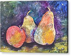 Two Pears And An Apple Acrylic Print