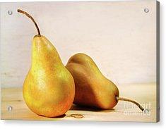 Two Pears Acrylic Print by Sandra Cunningham