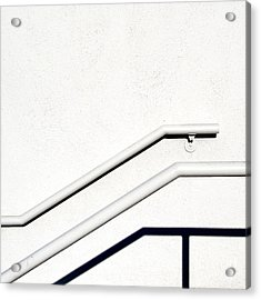 Two Rails Acrylic Print by CML Brown
