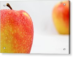 Two Red Gala Apples Acrylic Print by Paul Ge