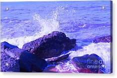 Two Times Blue Acrylic Print by David Peters