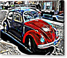 Two Toned Vw Beetle Acrylic Print