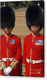 Two Warrant Officers Of The Irish Acrylic Print by Andrew Chittock