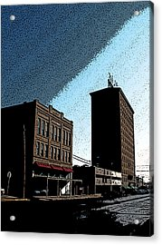 Twohig Street Acrylic Print by Louis Nugent