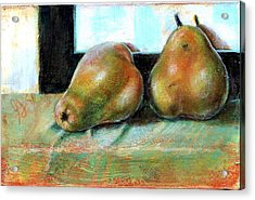 Acrylic Print featuring the painting Twosome by Gertrude Palmer