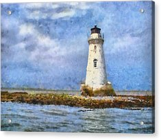 Acrylic Print featuring the painting Tybee Island Lighthouse by Lynne Jenkins