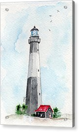 Acrylic Print featuring the painting Tybee Light by Doris Blessington