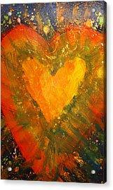 Tye Dye Heart Acrylic Print by James Briones