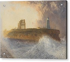 Tynemouth Pier Acrylic Print by Alfred William Hunt