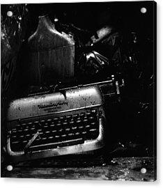 Typewriter Acrylic Print by Eric Tadsen