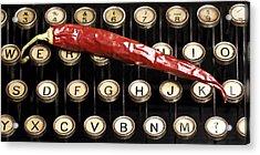 Typewriter Keys Xt Acrylic Print by Falko Follert