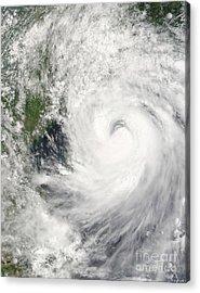 Typhoon Prapiroon Acrylic Print by Stocktrek Images