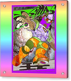 Typo Cartoon Acrylic Print