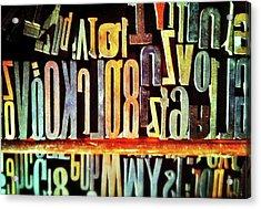 Typography Acrylic Print