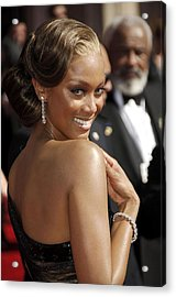 Tyra Banks At Arrivals For 58th Annual Acrylic Print