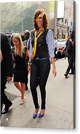 Tyra Banks, Enters The Good Morning Acrylic Print by Everett