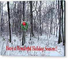 Tyra's Woods At Christmas Acrylic Print by Julie Dant