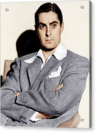 Tyrone Power, Ca. 1940s Acrylic Print