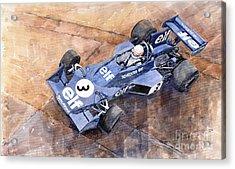 Tyrrell Ford 007 Jody Scheckter 1974 Swedish Gp Acrylic Print by Yuriy  Shevchuk
