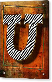 U Acrylic Print by Mauro Celotti