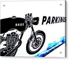 Ubud Motorbike Parking  Acrylic Print by Funkpix Photo Hunter