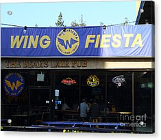 Uc Berkeley . Bears Lair Pub . 7d9980 Acrylic Print by Wingsdomain Art and Photography