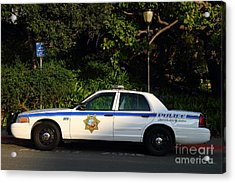 Uc Berkeley Campus Police Car  . 7d10178 Acrylic Print by Wingsdomain Art and Photography