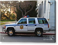 Uc Berkeley Campus Police Suv  . 7d10182 Acrylic Print by Wingsdomain Art and Photography