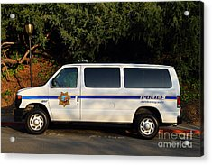 Uc Berkeley Campus Police Van  . 7d10180 Acrylic Print by Wingsdomain Art and Photography