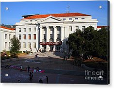 Uc Berkeley . Sproul Hall . Sproul Plaza . Occupy Uc Berkeley . 7d10004 Acrylic Print by Wingsdomain Art and Photography