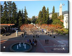 Uc Berkeley . Sproul Hall . Sproul Plaza . Sather Gate And Sather Tower Campanile . 7d10003 Acrylic Print by Wingsdomain Art and Photography