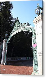 Uc Berkeley . Sproul Plaza . Sather Gate . 7d10035 Acrylic Print by Wingsdomain Art and Photography