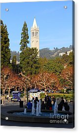 Uc Berkeley . Sproul Plaza . Sather Gate . 7d9998 Acrylic Print by Wingsdomain Art and Photography