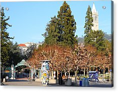Uc Berkeley . Sproul Plaza . Sather Gate And Campanile Tower . 7d9996 Acrylic Print by Wingsdomain Art and Photography