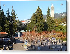 Uc Berkeley . Sproul Plaza . Sather Gate And Sather Tower Campanile . 7d10000 Acrylic Print by Wingsdomain Art and Photography