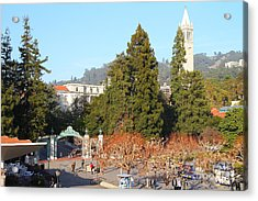 Uc Berkeley . Sproul Plaza . Sather Gate And Sather Tower Campanile . 7d10015 Acrylic Print by Wingsdomain Art and Photography