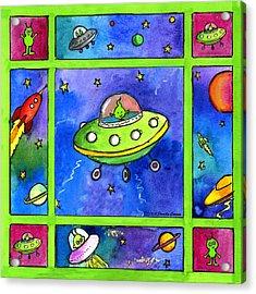 UFO Acrylic Print by Pamela  Corwin