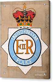 Uk Police Crest Acrylic Print by Unknown