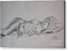Ulrike Reclining Acrylic Print by Gill Kaye