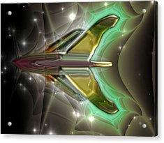Acrylic Print featuring the digital art Ultra Fractal F-40 by Mario Carini