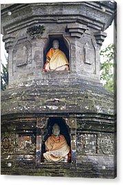 Ulun Danu Temple Statues Acrylic Print by Design Pics