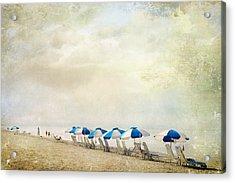 Umbrellas Acrylic Print by Karen Lynch