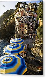 Umbrellas Of Riomagiorre Acrylic Print by  Samdobrow  Photography