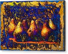 Unborn Pears Acrylic Print by David Clanton