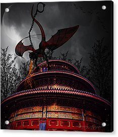 Unchained Protector Acrylic Print by Lourry Legarde
